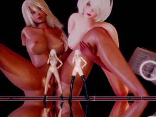 Automata 2b naked nier 2B Revealing